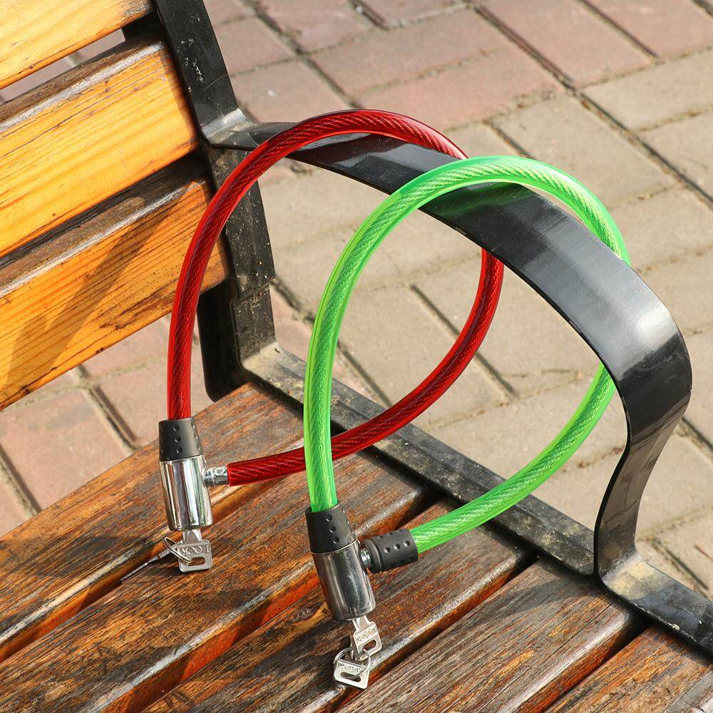 Security Bike Portable Bicycle Lock Cable Anti-Theft Scooter Safety Cycling ~