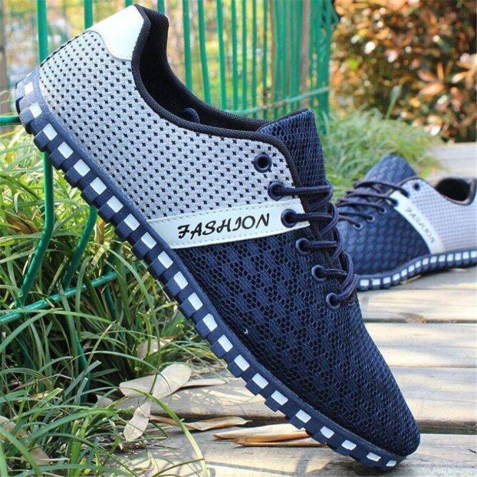 Giày Mùa Xuân Và Mùa Thu Giày Sneaker Lưới Cho Nam, Giày Mang Thường Ngày Thoáng Khí Chống Trang Phục Nhẹ Phá Cách giá rẻ