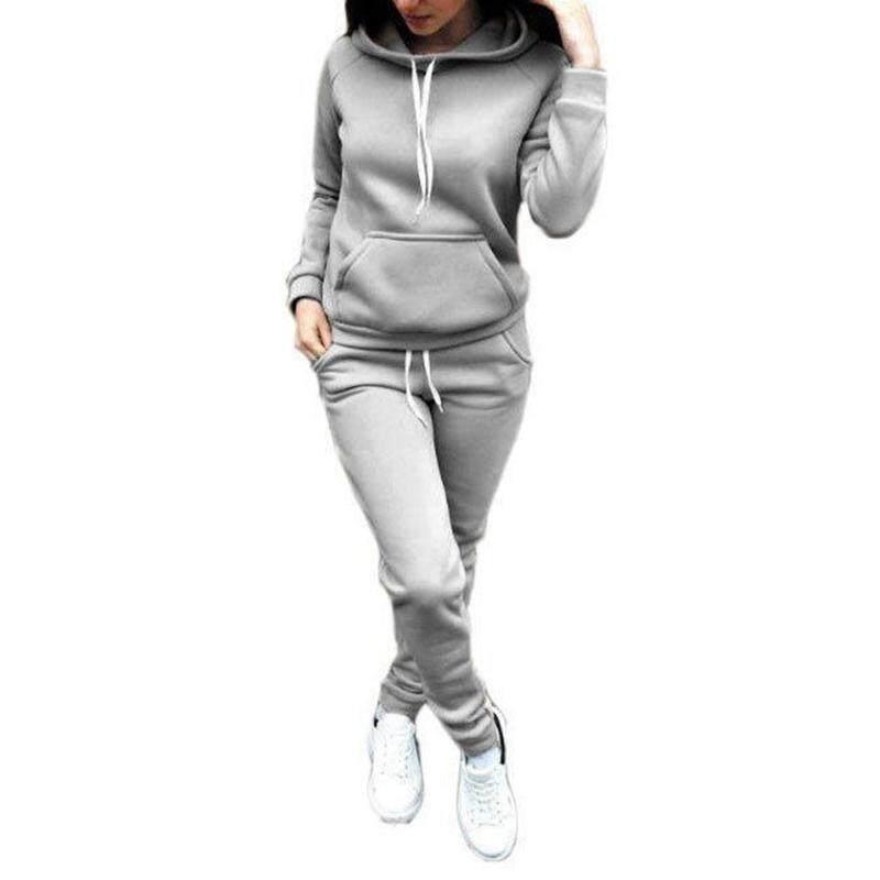 f210212dc Vgobuy Women Hoodies Sports Tops Pants Tracksuit Sweatshirt Sweat Suit  Jogging Set