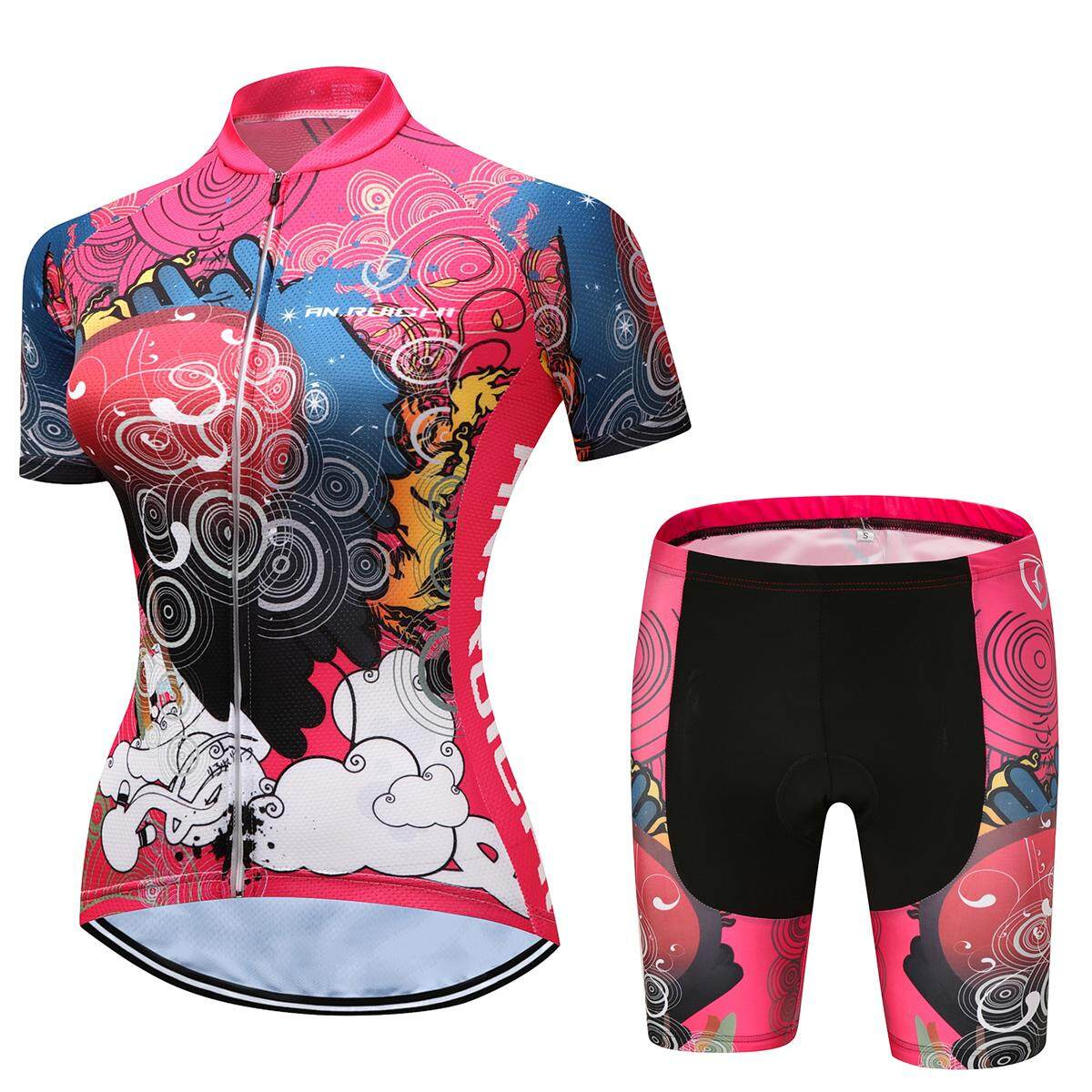 49a4a397545 2018 Women Cycling Jersey Pro Team Short Sleeve Breathable Sports Cycling  Clothing