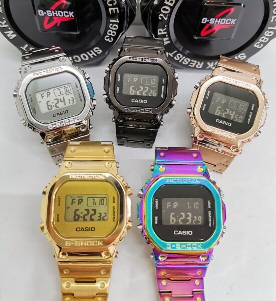 CASI0_G_$hock GMW B5000 Full Metal Wrist Watch (Gold/Silver/Black/Rosegold/Rainbow) Malaysia