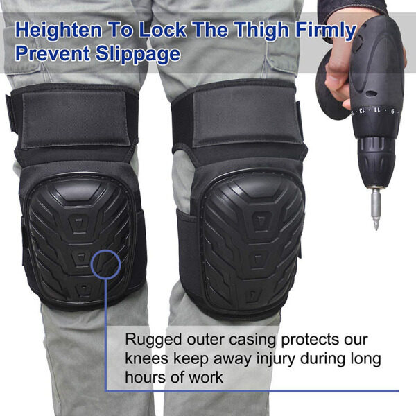【Hot Sale】 Work Knee Pads with Gel Padding Adjustable Straps for Gardening Construction Works Durable High Quality