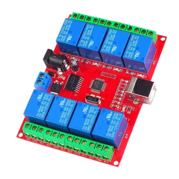 Bảng giá Drive Free USB Control Switch 8-Way 5V Relay Module Computer Control Switch PC Intelligent Control Phong Vũ