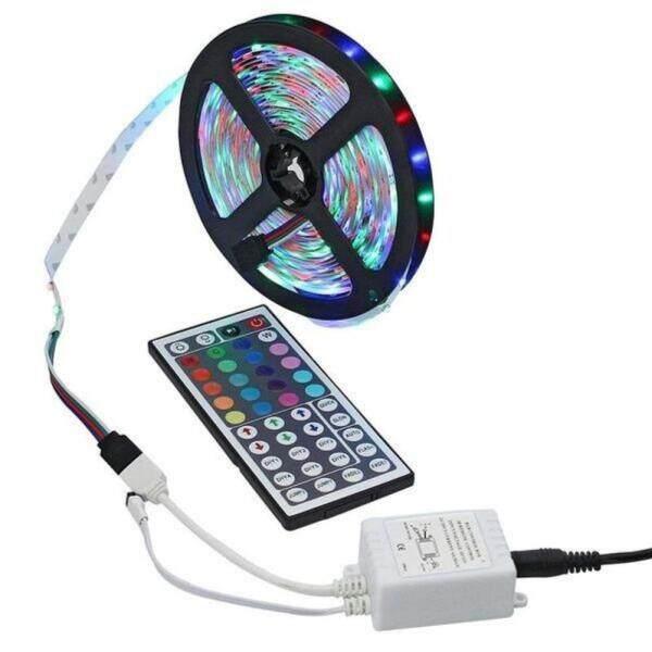 Bảng giá Dải Đèn LED RGB Mềm 5/10M, Trang Trí Đèn Gara Tủ Chén Với Điều Khiển Từ Xa IR