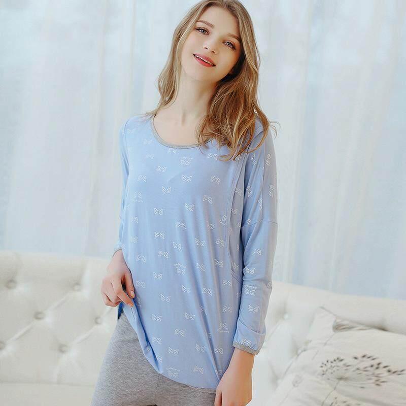 aeb7a15a78012 Summer Modal Month Of Service Set Thin Maternal Postpartum Feeding Pajamas  Lactation Garment Pregnant Women Home