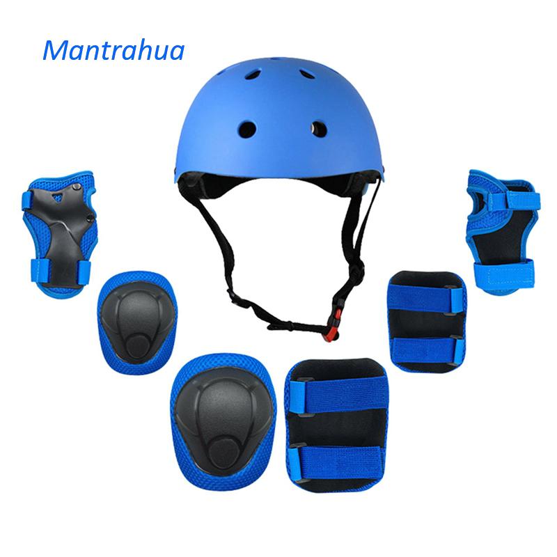 Mũ Bảo Hiểm Mantrahua Cho Trẻ Em, Mũ Bảo Hiểm Xe Đạp Có Khuỷu Tay Đầu Gối Điều Chỉnh Được