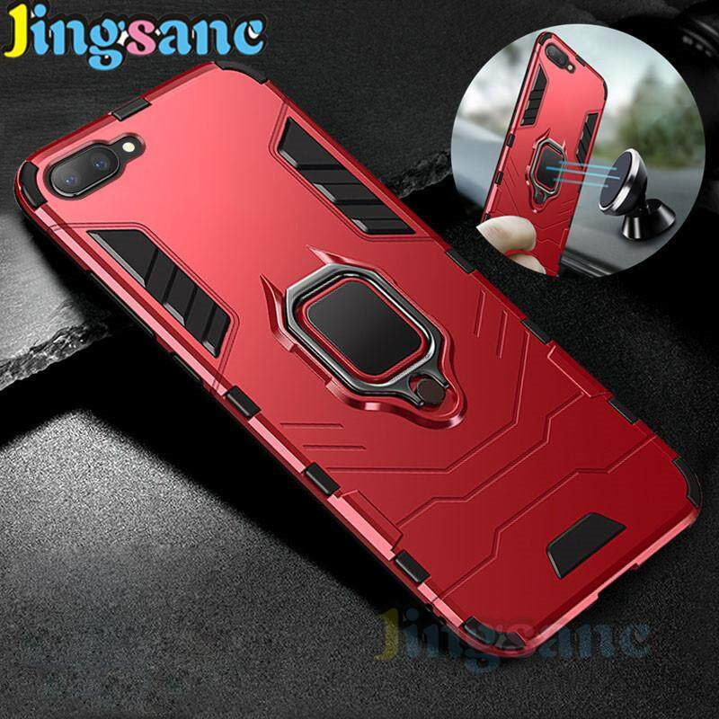 5f6996332 Jingsanc For OPPO A3S Phone Case Shockproof Car bracket Ring Holder Hybrid  2 in1 Case Hard