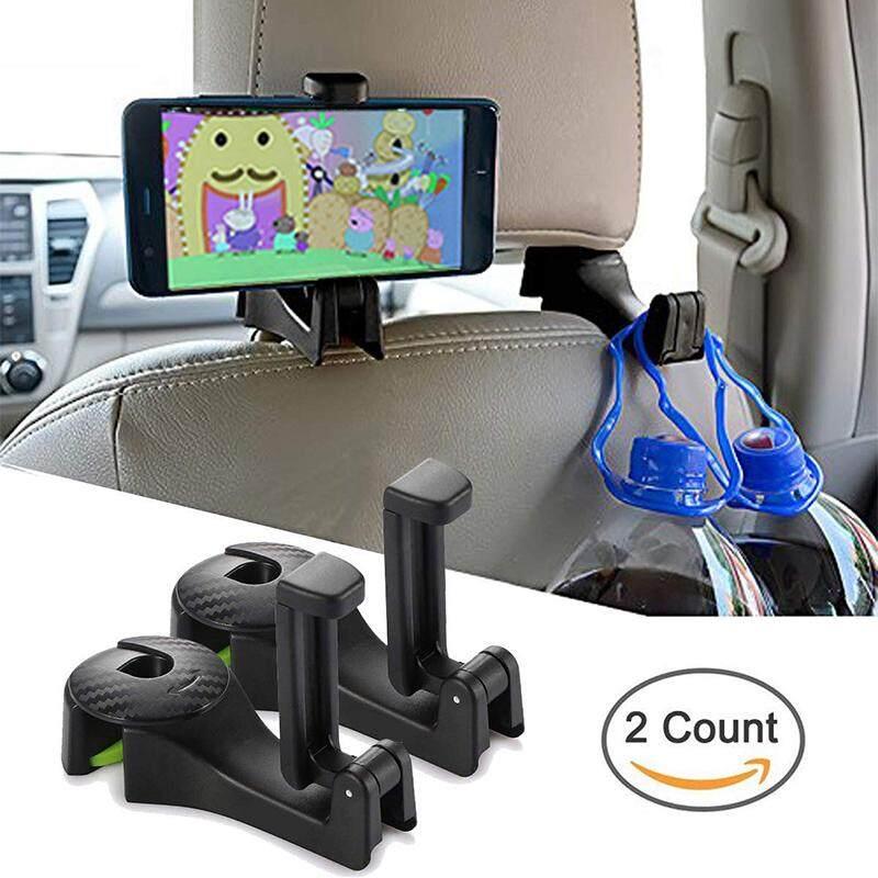 69a80e056 FinnSalle 2 Pcs Car Hooks Headrest Hangers Car Front Back Seat Hooks with  Phone Holder,