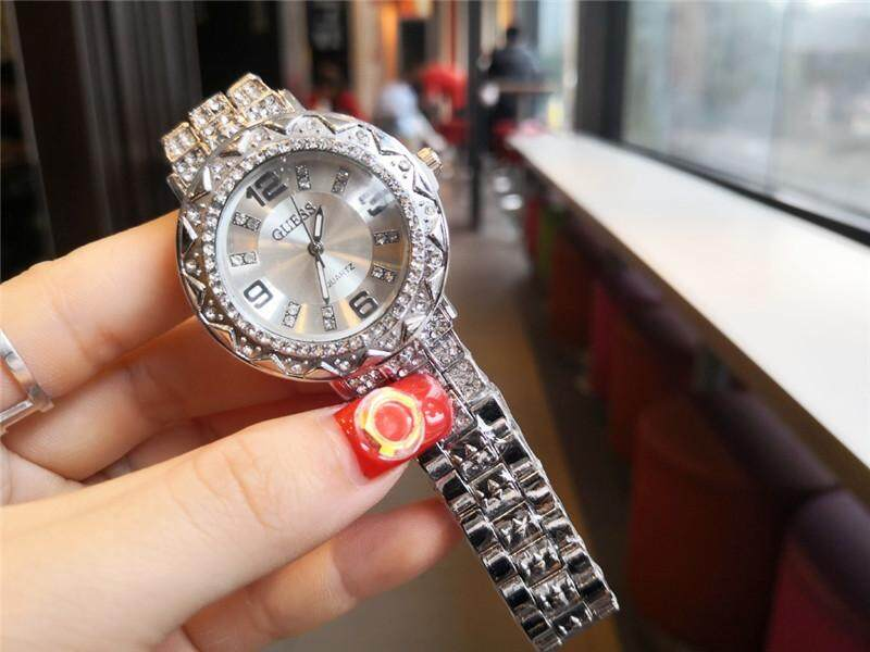 Original_Guess Mens and womens business trend Rhinestone series watch Malaysia