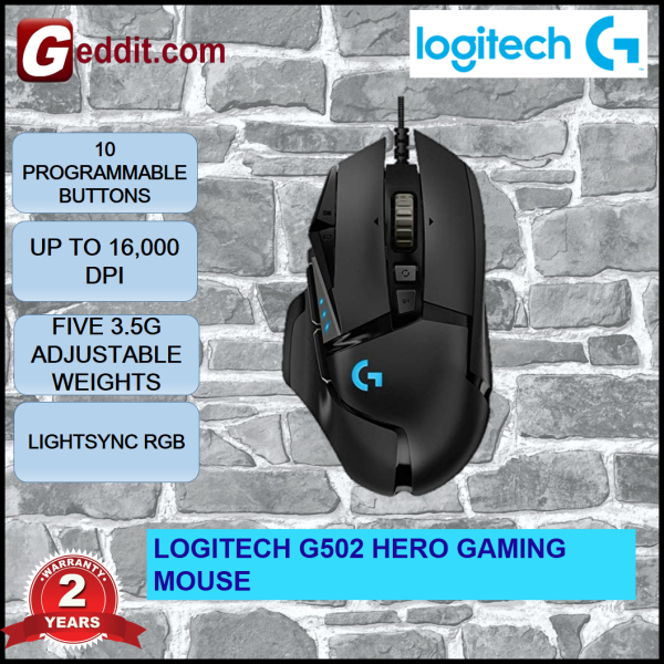 Logitech G502 Hero High Performing Gaming Mouse Malaysia