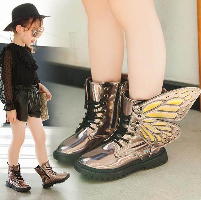 Giá bán 2019 Mới Mùa Đông Cho Bé Giày Da PU Chống Thấm Nước Cánh Martin Giày Trẻ Em Ủng Thương Hiệu Bé Gái Bé Trai Giày Cao Cổ Thời Trang giày Sneakers