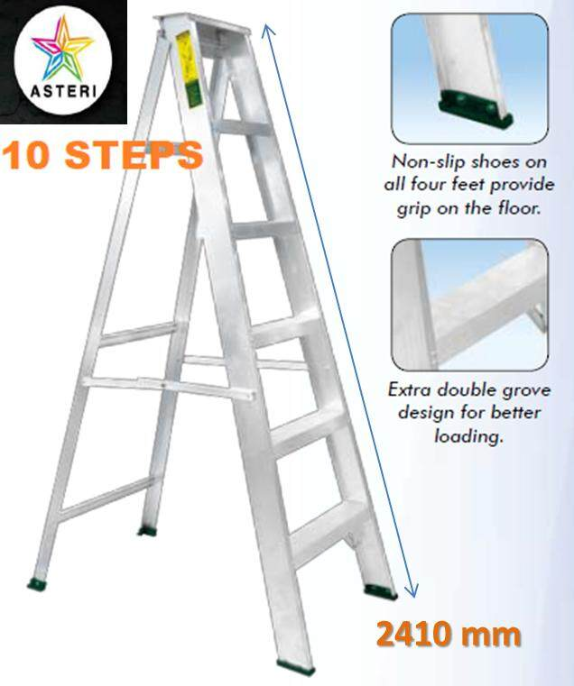 10 Steps Aluminium Single Sided Ladder SM-10