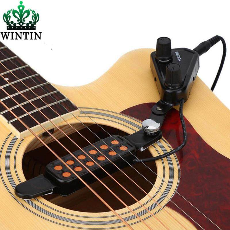 Wintin 12-hole Acoustic Guitar Sound Hole Pickup Magnetic Transducer With Tone Volume Controller 3M Cable Guitarra Accessories Malaysia