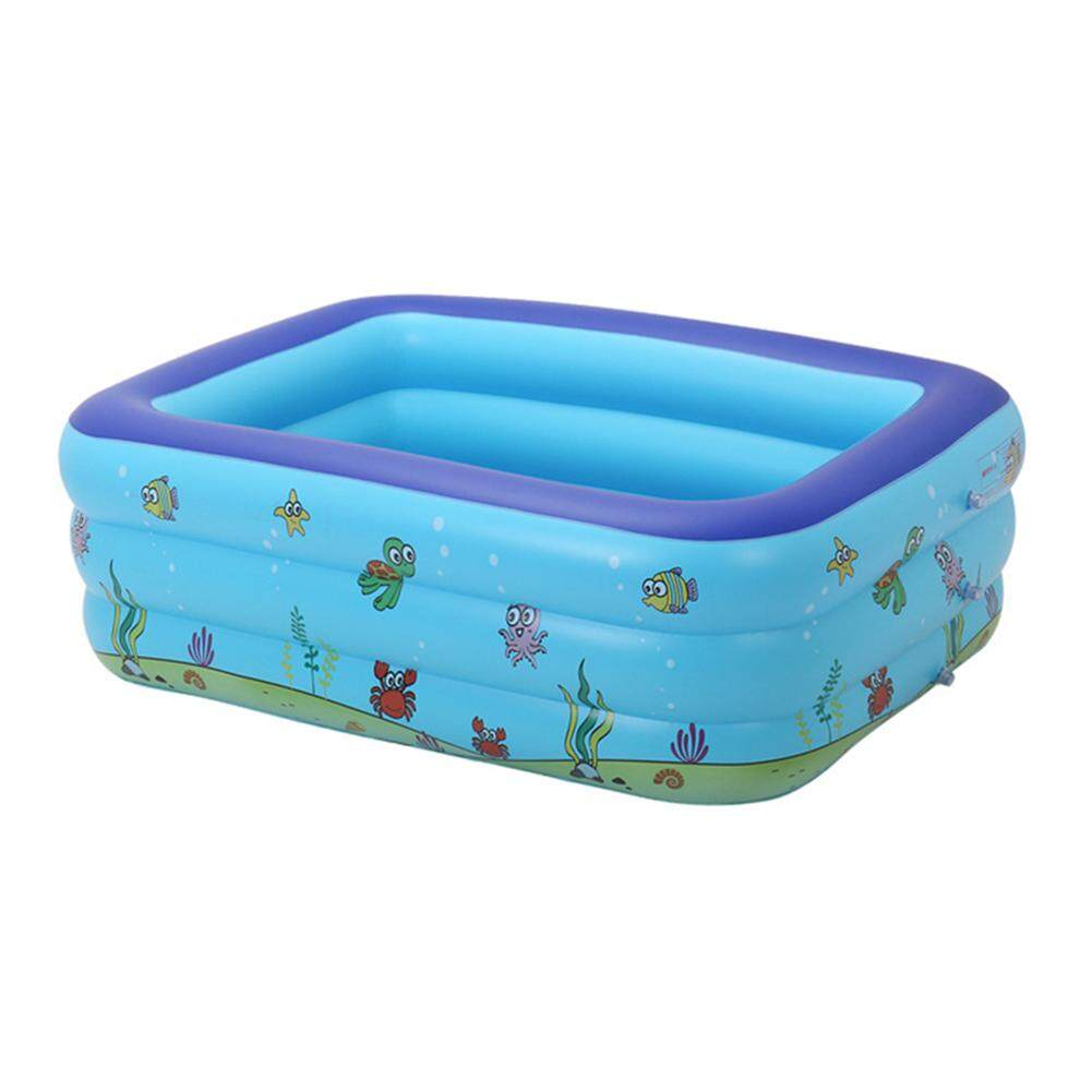 Portable Pools for Kids Inflatable Bathtub Baby Rectangular Swimming Pool Blow Up Kid Pools Hard Plastic Water Toys for Outdoor Beach Summer Parties