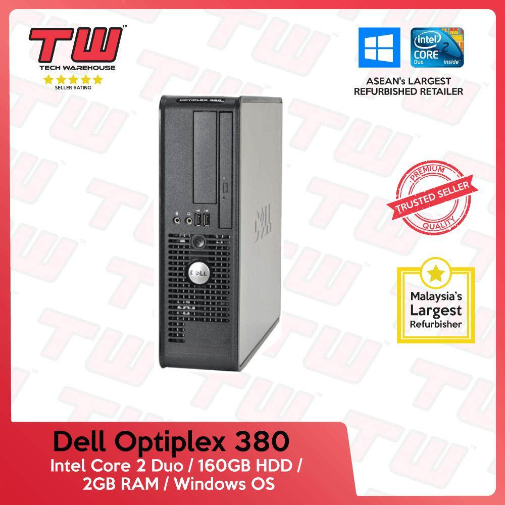 Dell Optiplex 380 C2D 3 0 / 2GB RAM / 160GB HDD / Windows OS (SFF) Desktop  PC / 3 Month Warranty (Factory Refurbished)