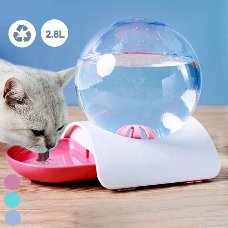 Pet Tự Động Uống Đài Phun Nước Mèo Trung Chuyển Bát Bóng Chó Nước Nóng Lạnh Công Suất Lớn Màu Xám