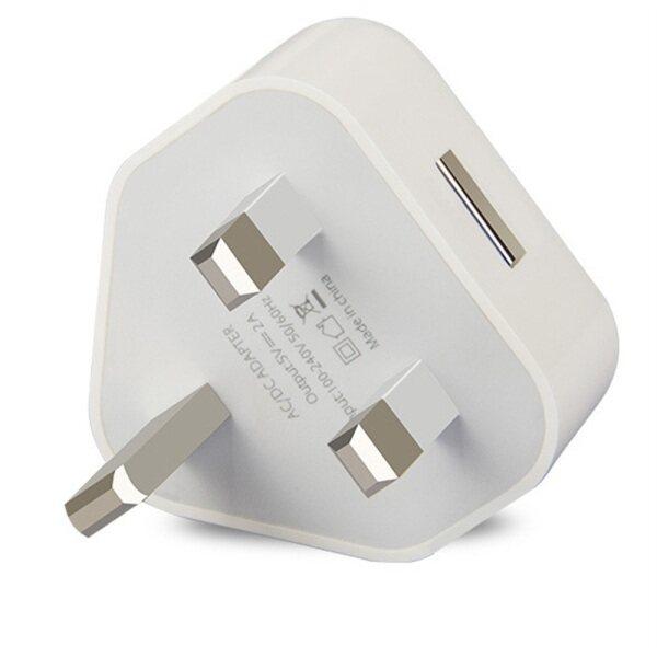 1/2/3pcs British standard USB charging head 3 pin British plug 5V 1A USB wall charger power adapter mobile phone home charging tablet iPad
