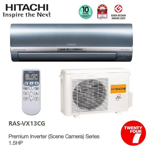 HITACHI RAS-VX13CG 1.5HP Premium Inverter (Scene Camera) Air Conditioner