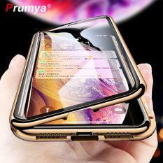 Ốp Hấp Phụ Từ Tính Kim Loại Dành Cho iPhone XS MAX X XR 6 6S Plus Nam Châm Kính Cường Lực Hai Mặt Dành Cho iPhone 7 8 Plus 11 SE2020