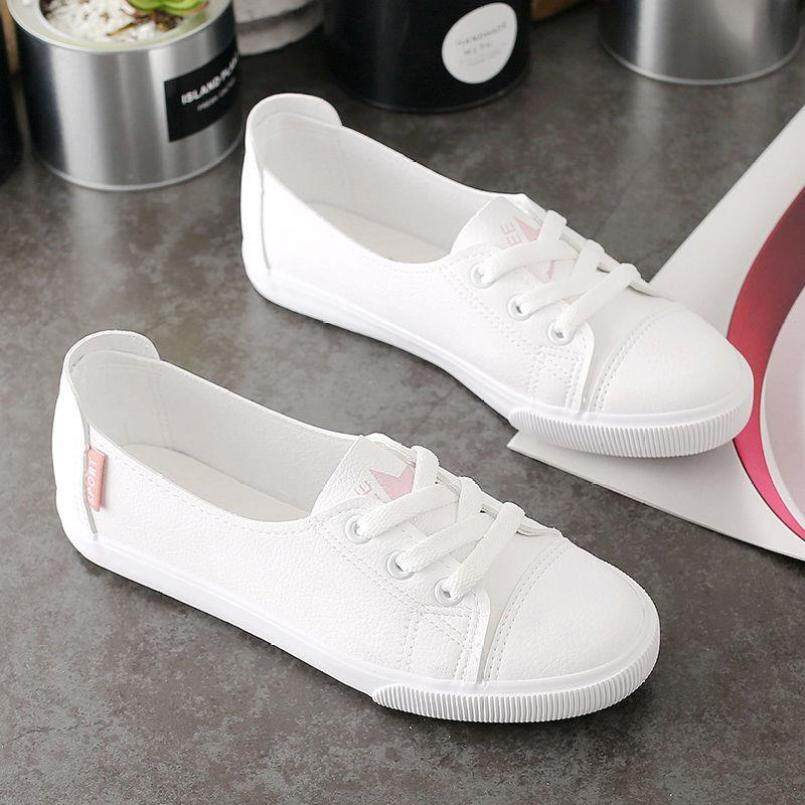 Giày Trắng Có Đế Bằng Cho Nữ, Giày Đế Bằng Đi Chơi Thoáng Khí Có Miệng Nông Và Giày Đơn Mồi Năm 2019 giá rẻ