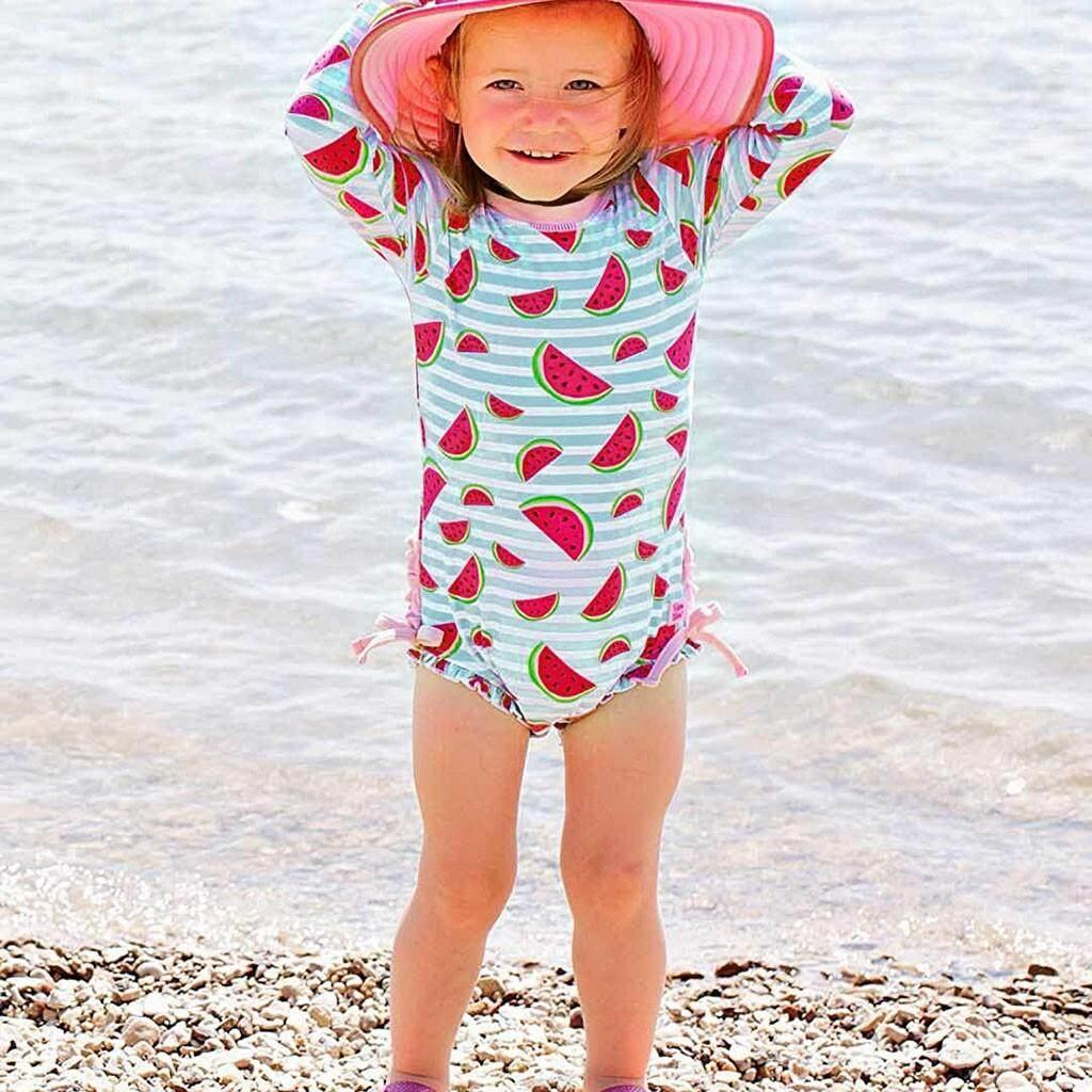 945acadeede TCTTheOne Children Kids Girls Long Sleeve Bikini Beach Watermelon Print One  Piece Swimsuit swimming suit girl