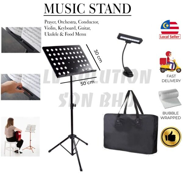 Msia Ready Stock🔥 BIG Quran Stand Berkualiti Duty Music Stand for Orchestra, Conductor, Violin, Guitar, Food Menu Stand Malaysia