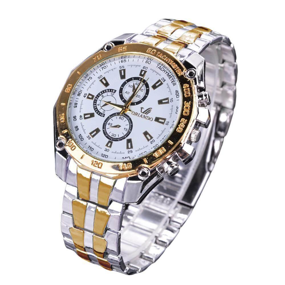 Linemart 1/ 2/ 3pcs Womens Steel Luxury Analog Quartz Wrist Watch (White/Gold/Black) Malaysia