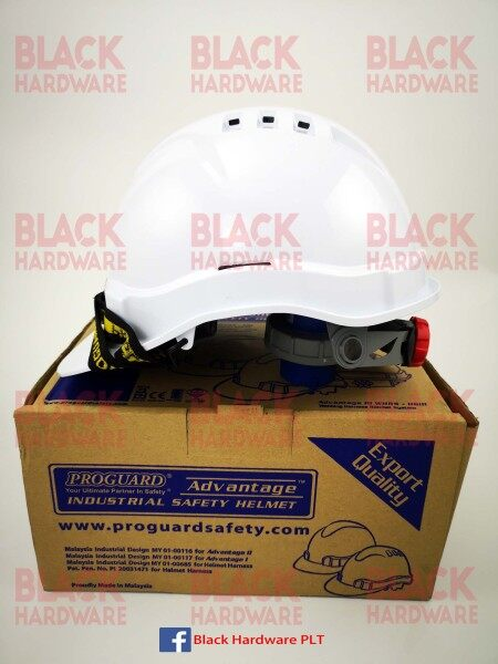 Proguard Advantage II WHRS-HGII Webbing Harness Ratchet System Industrial Head Protect Anti Impact Safety Helmet Hat