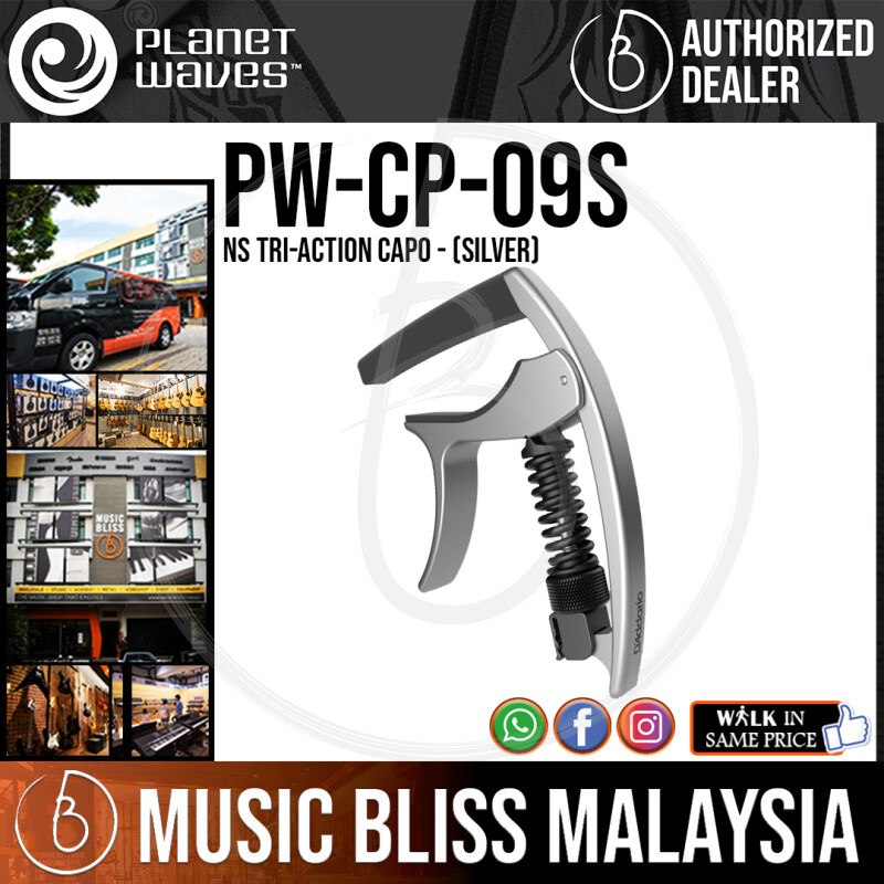 Planet Waves PW-CP-09S NS Tri-Action Capo - Silver (PWCP09S) Malaysia