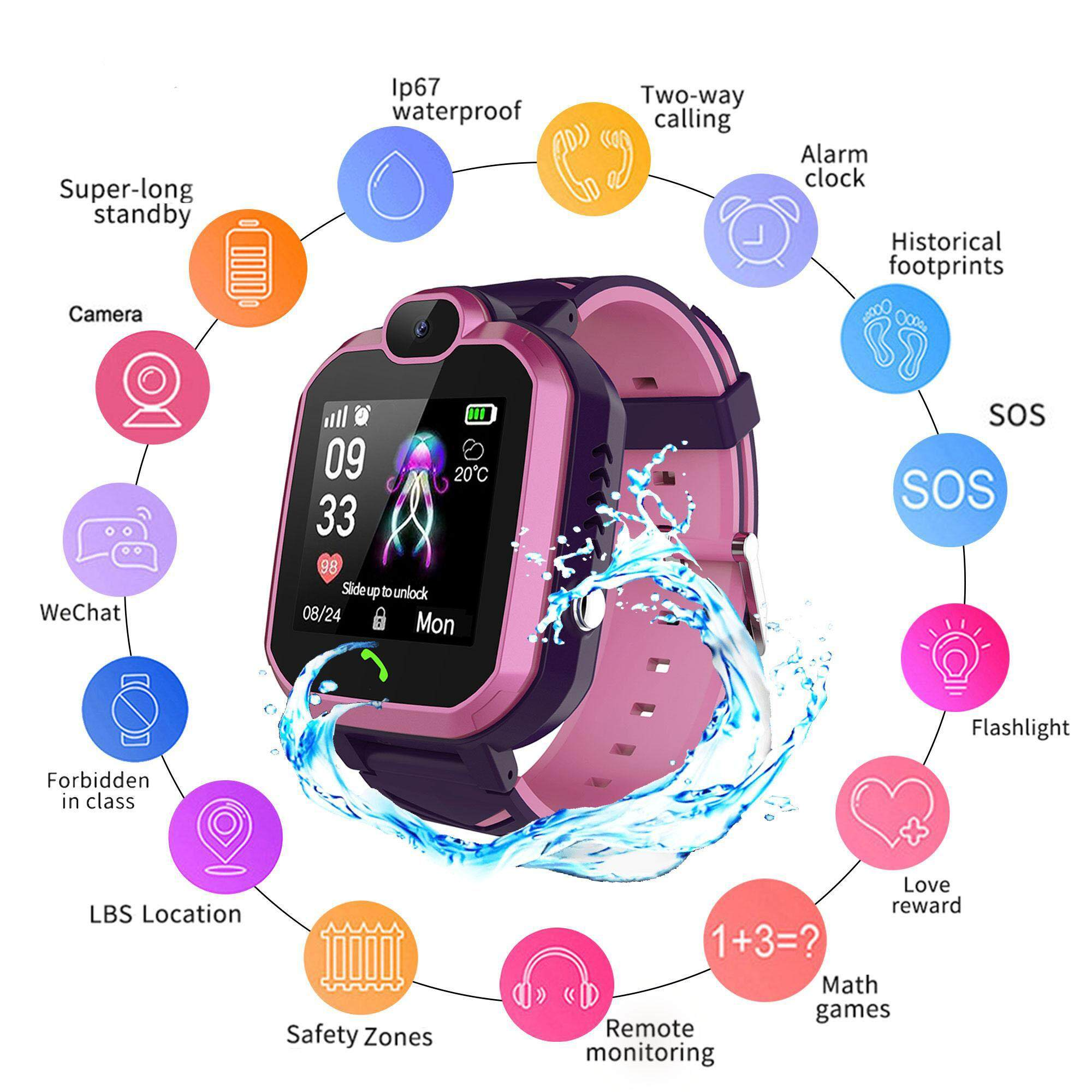 Kids Safety Wristband Anti-Lost Alarm Device Protect Child Outdoor ED