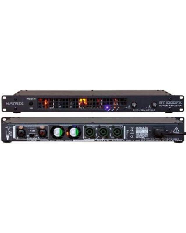 Matrix Amplification GT1000FX-1U 1000 Watt Lightweight 1U Format Stereo Rack Mount Power Amplifier Malaysia