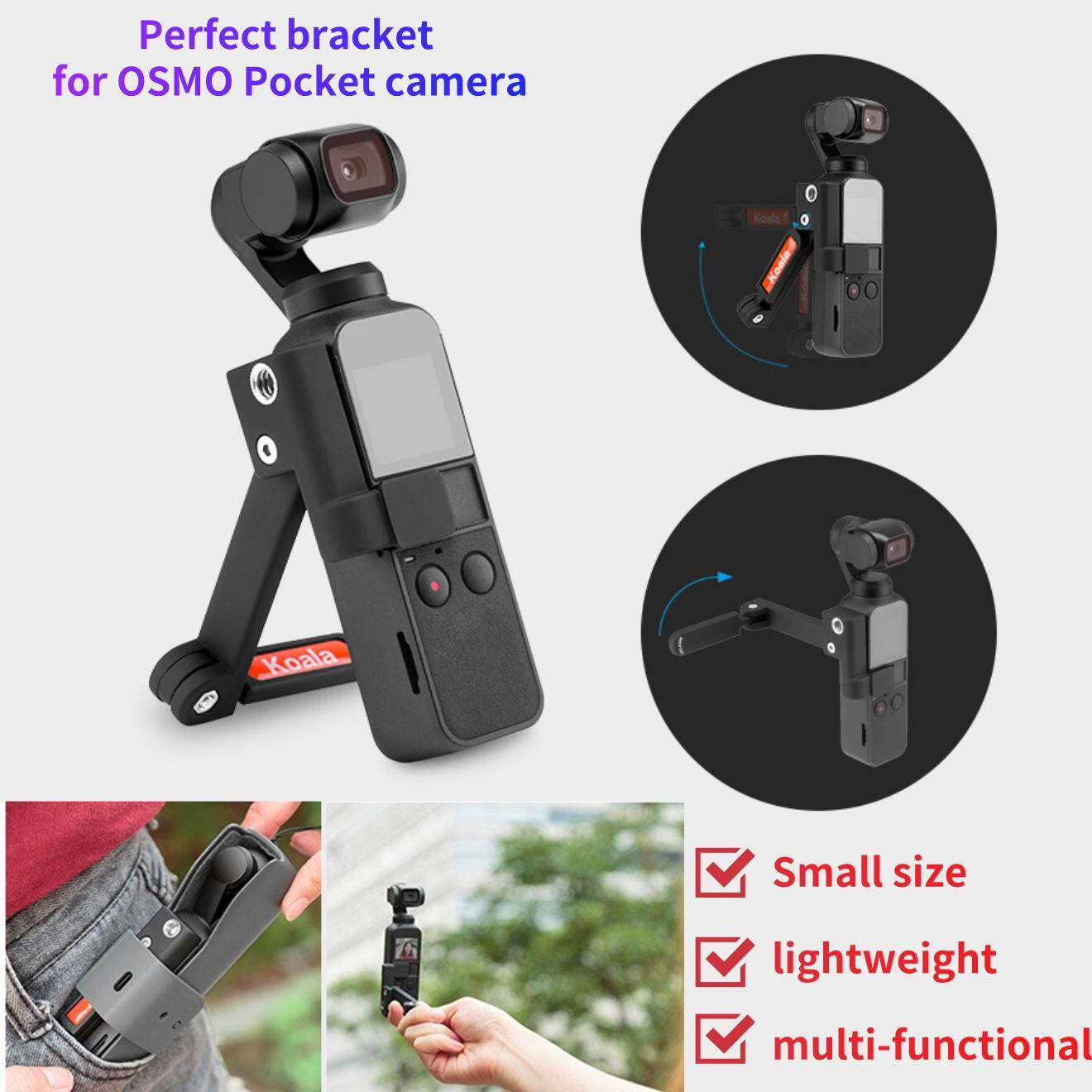 Multi-Function Stand for OSMO TELESIN Multi-Function Stand Multiple Angle Stick Support Bracket for OSMO Pocket Camera