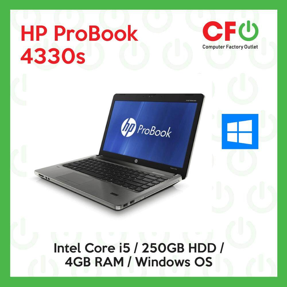 HP ProBook 4330s / Intel Core i5 / 4GB RAM / 250GB HDD / Windows OS Laptop / 1 Month Warranty (Factory Refurbished) Malaysia