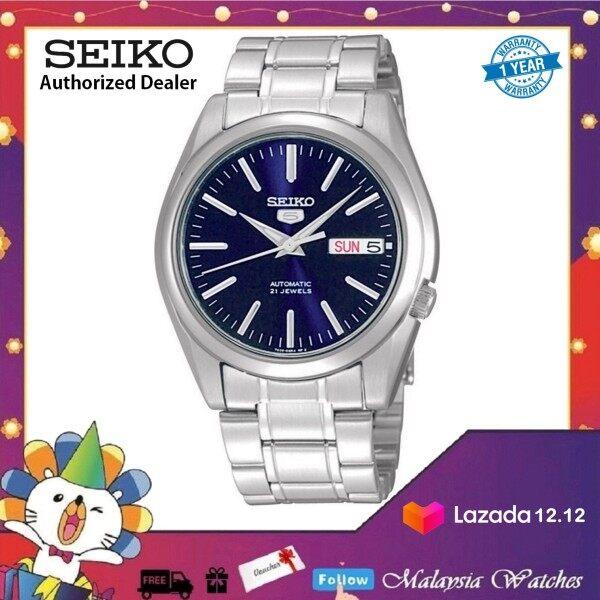 Seiko 5 SNKL43K1 Automatic Gents Stainless Steel Bracelet Watch (Blue & Silver) Malaysia