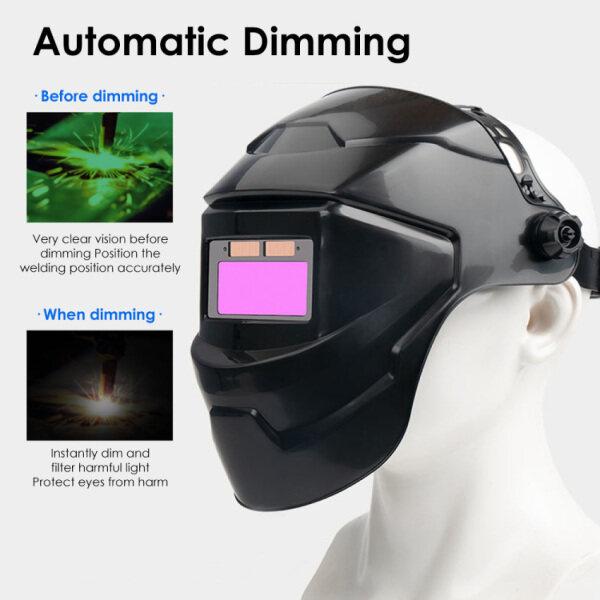 Mặt nạ hàn điện tự động có thể điều chỉnh, tích hợp tai dành cho thợ hàn mài kính - INTL