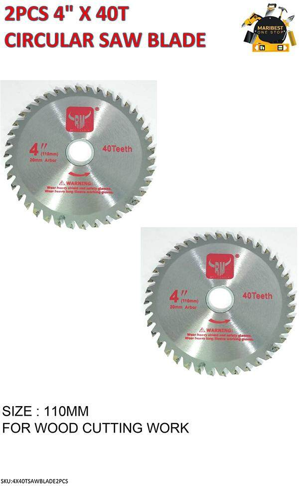 2pcs Circular Saw Blade 4 X 40t By Maribest Onestop.
