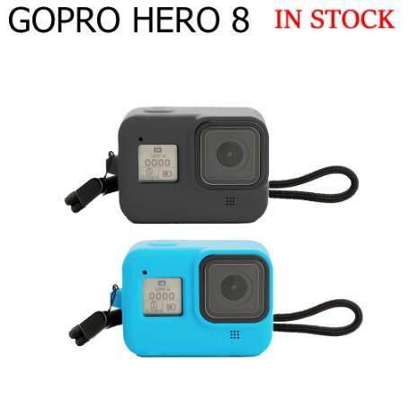 Giá Laztech Cho GoPro Hero 8 Vỏ Silicon Bảo Vệ Phụ Kiện Chống Thấm Nước Vỏ Máy Ảnh Anh Hùng Hành Động Cho GoPro Hero 8 Vỏ Silicon Màu Đen
