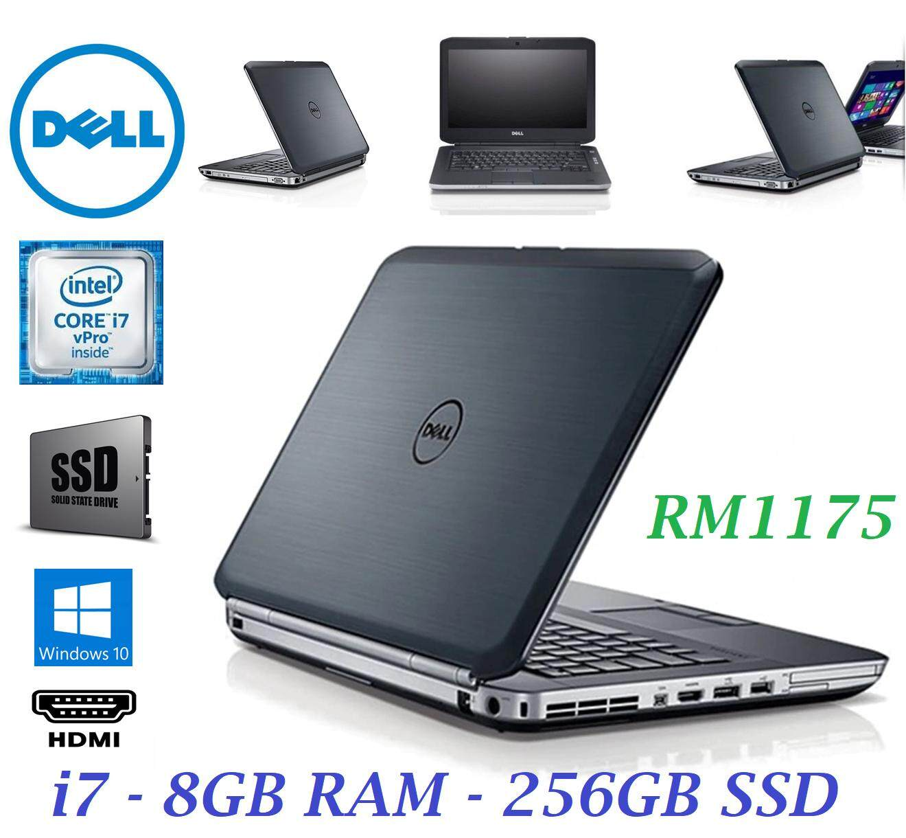 REFURBISHED DELL LATITUDE E5430 SUPERDUTY CORE i7 / 8GB RAM / 256GB SSD / 1 YEAR WARRANTY Malaysia