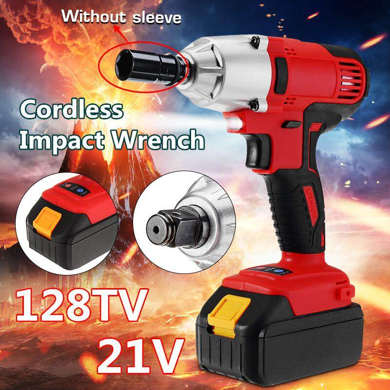 【Free Shipping + Flash Deal】21V Brushless Cordless Electric Impact Wrench Tool Rattle Machine Car Repairing LED