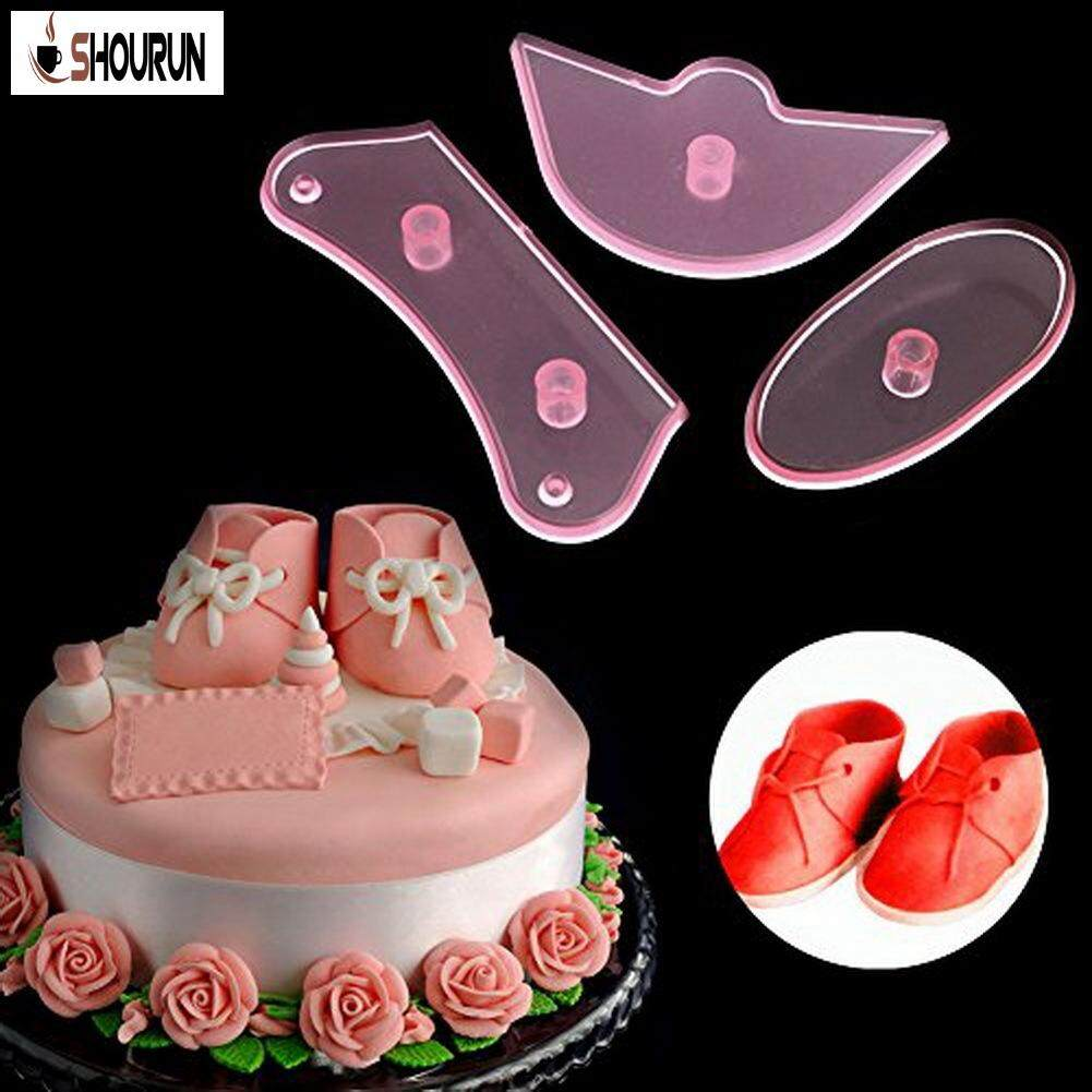SN Baby Shoes Shape Biscuit Embossing Mold Printing Mold Fondant Cake Tool