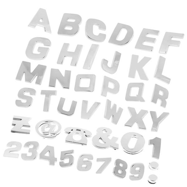 CCAire 200 Miếng Dán Kim Loại Chữ Cái Ô Tô, Huy Hiệu Biểu Tượng Chrome Đề Can Tùy Chỉnh