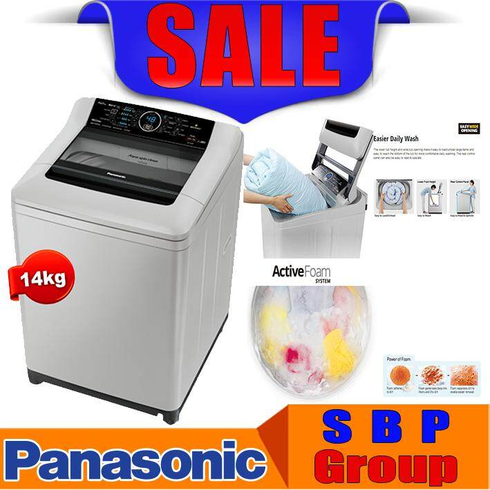 Panasonic 14KG ECONAVI Inverter Top Load Washer - ActiveFoam System NA-FS14G4HRT MESIN BASUH