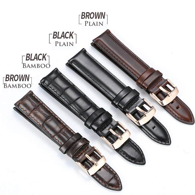 Applicable for DW Applicable for DW Leather Watch Strap Band Wholesale Plain Bamboo Texture Pin Buckle Watch Accessories for Men Women 12mm 13mm 14mm 17mm 18mm 19mm 20mm Malaysia