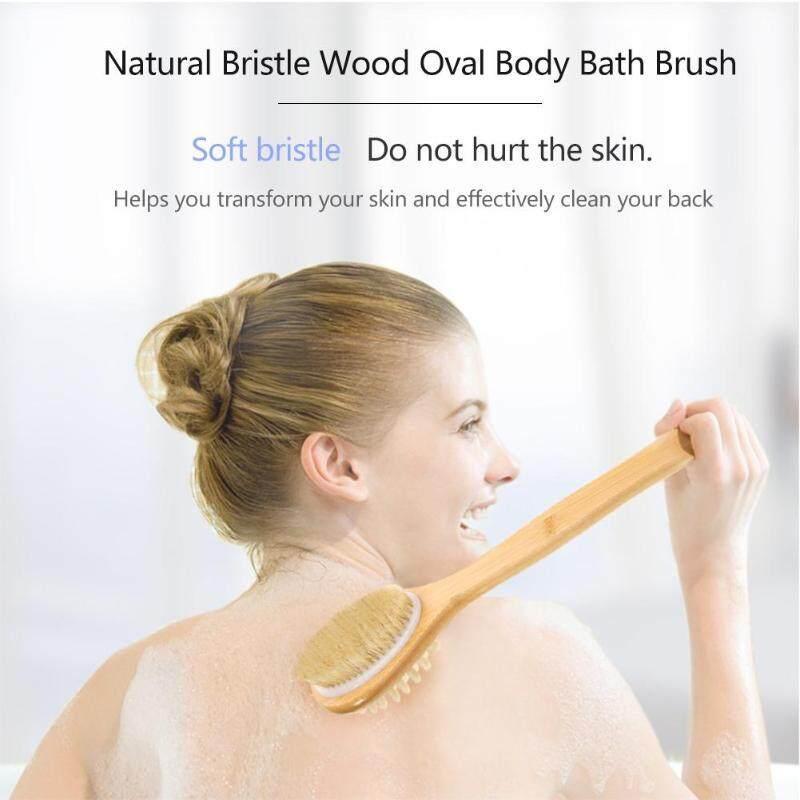 LISSNG Cả Hai Bên Bàn Chải Tự Nhiên Lông Tre Tay Cầm Tắm Toàn Thân Cọ Lưng Bụi Massage Tẩy Tế Bào Chết Bàn Chải tốt nhất