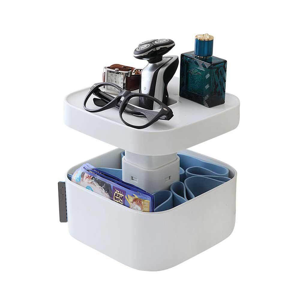 efuture Concealed multi-function storage box, jewelry, cosmetics, bathroom supplies, dust-proof, washable storage box.