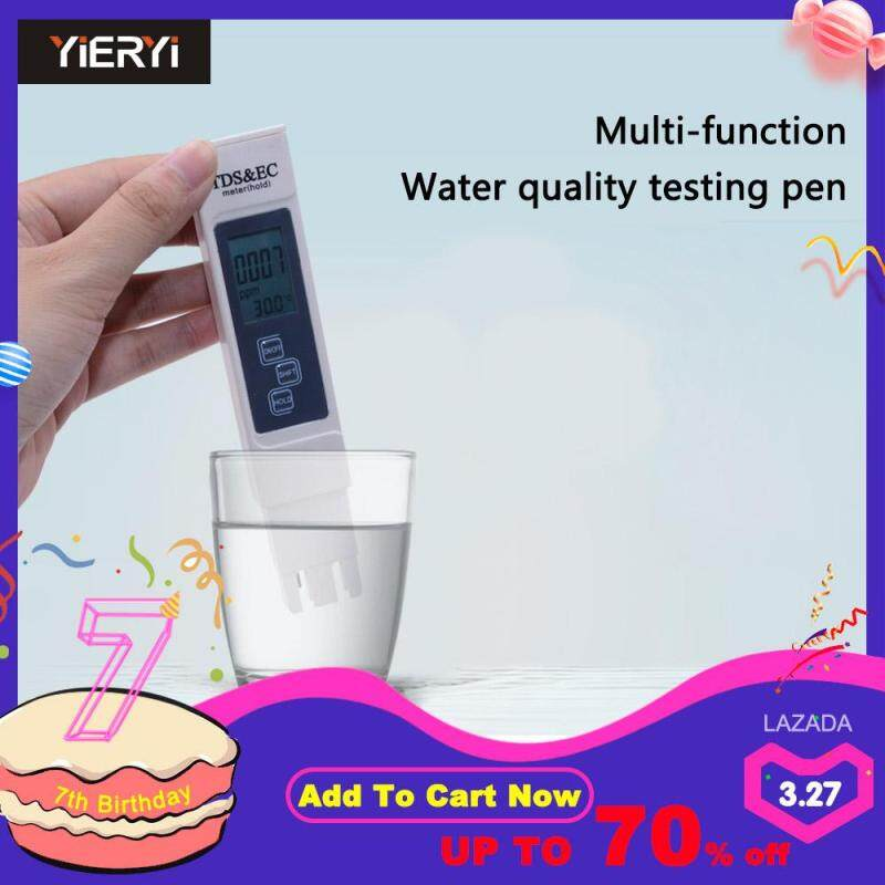 2018 New TDS EC Meter Temperature Tester Pen 3 In1 Function Conductivity Water Quality Measurement Tool TDS&EC Tester 0-5000ppm