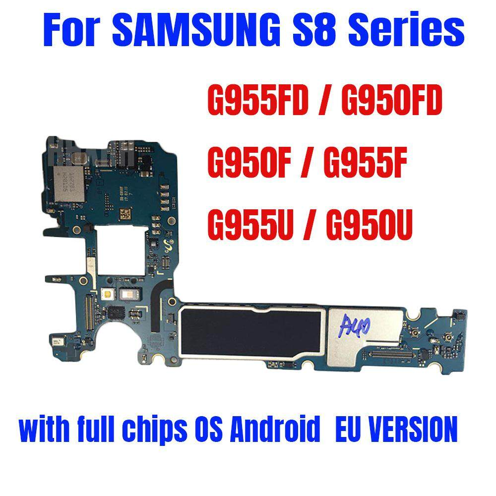 Original unlock for Samsung Galaxy S8 G950F Motherboard,EU version for Galaxy S8 G955F G955FD G950FD G955U G950U Logic Board