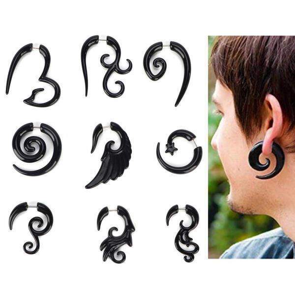 9 cái/bộ Acrylic Bông Tai Punk Phong Cách Ear Stud Piercing Đồ Trang Sức