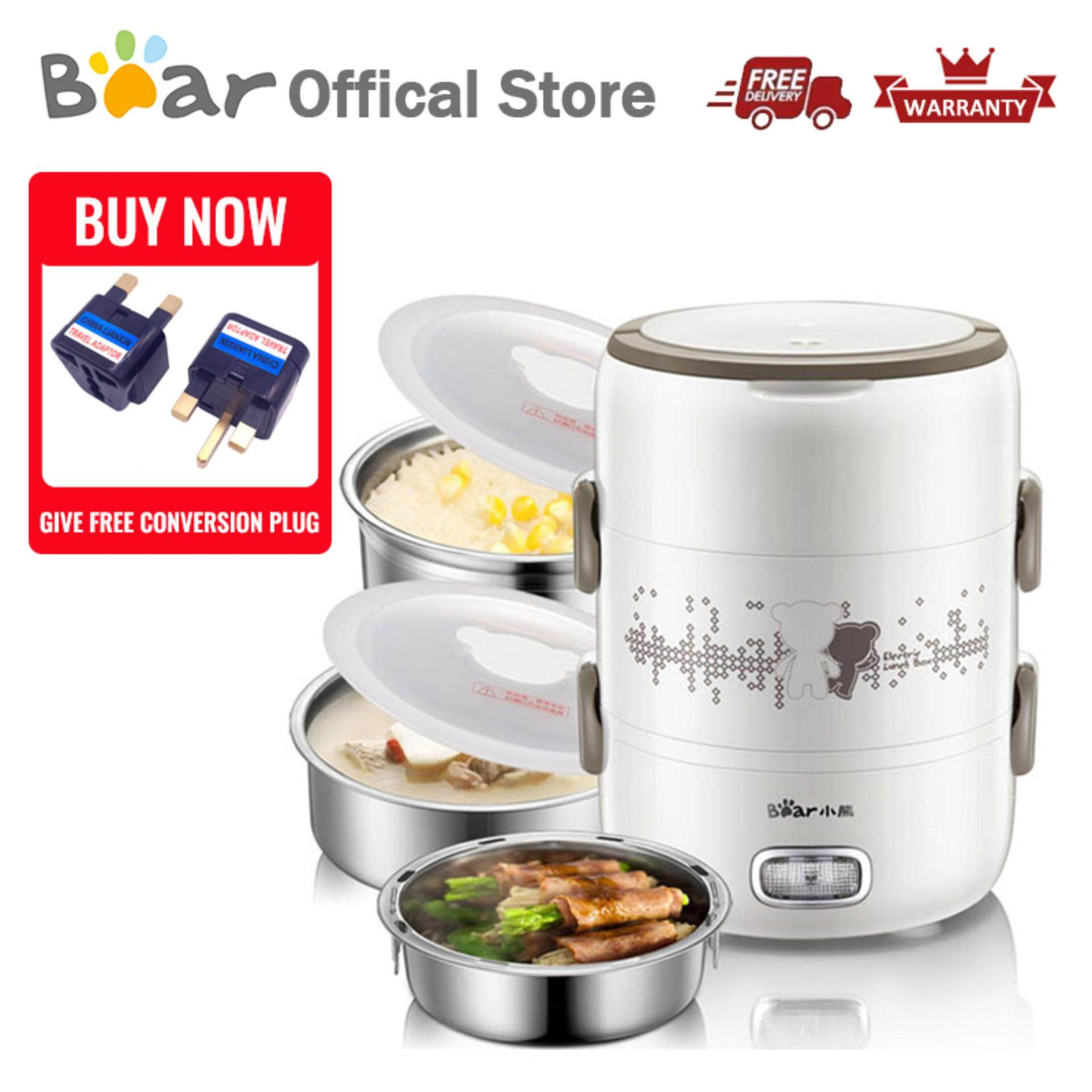 a05e5dc8d5a Bear Multi-Function Electric Heating Lunch Box DFH-S2358 2.0L 3 Tier  Steaming