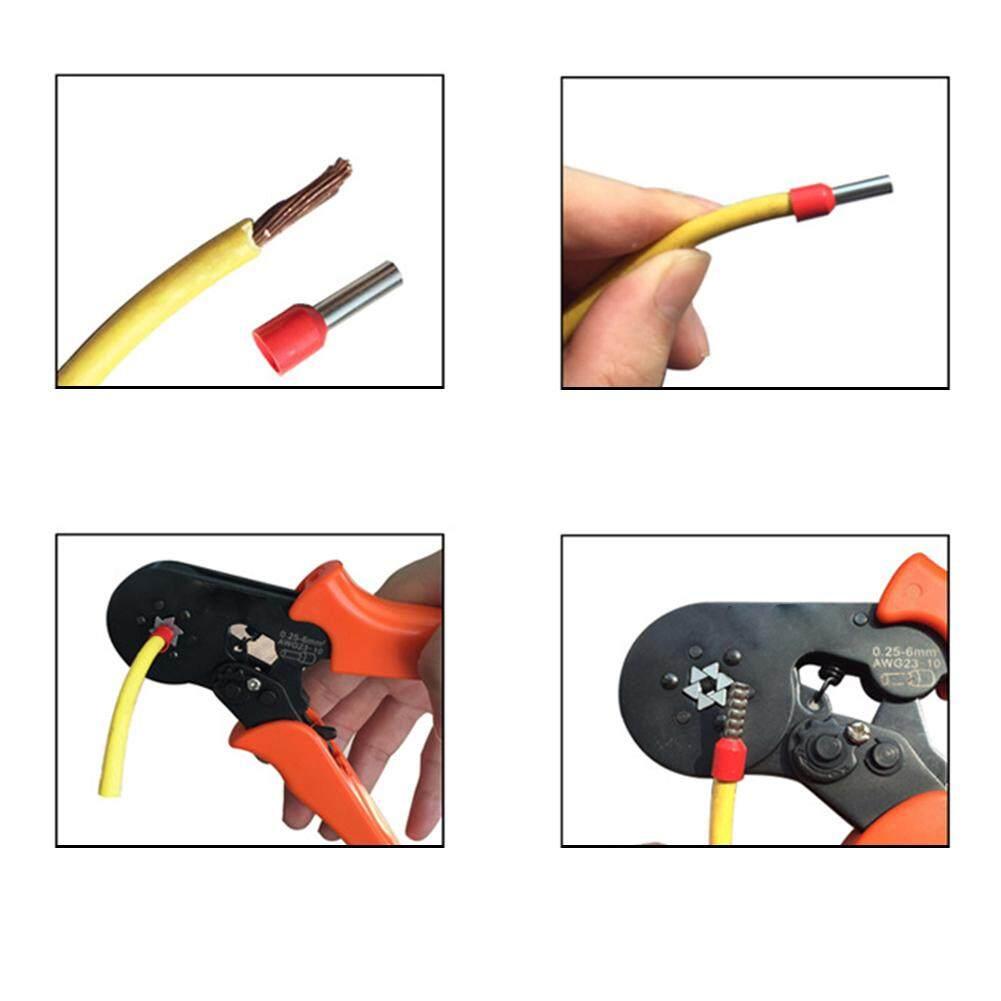 HSC8 6-6 Multipurpose Terminals Bender PVC Handle Crimping Tool Durable Self-adjusting Pliers Practical Hose Red Clamp Mini Type Hardware